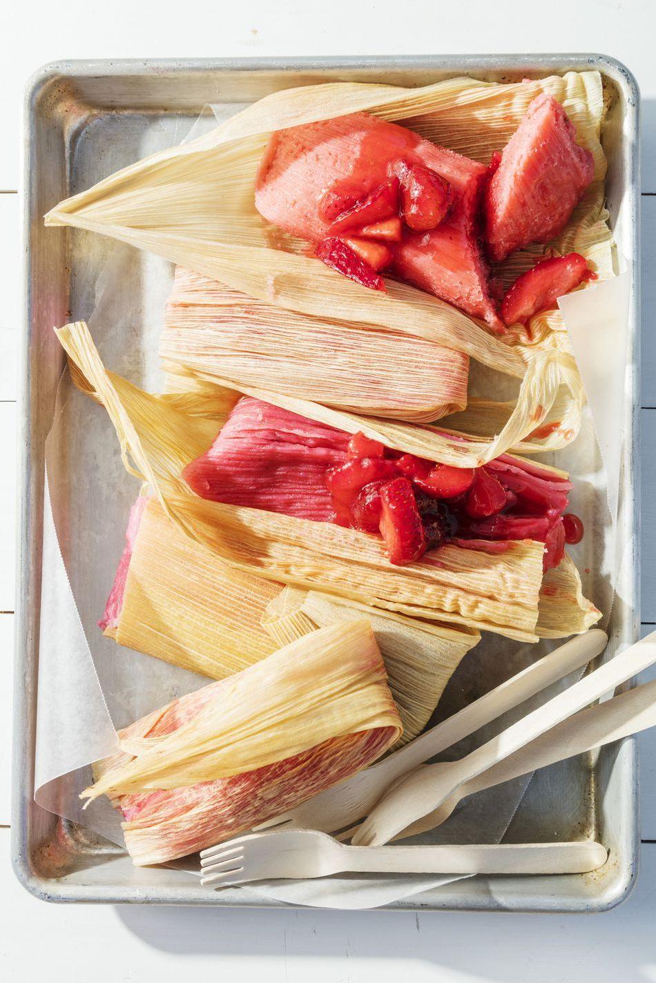 strawberry tamales