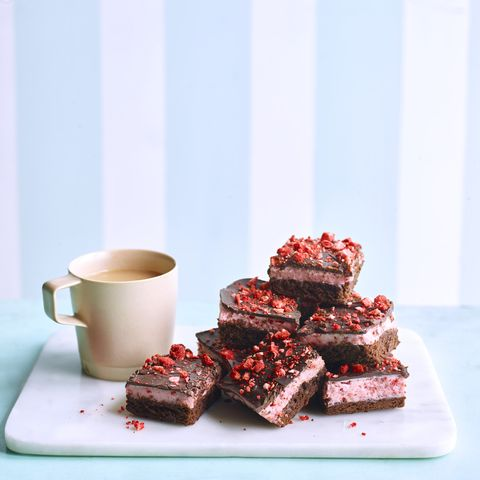 Strawberry Fluff Brownies