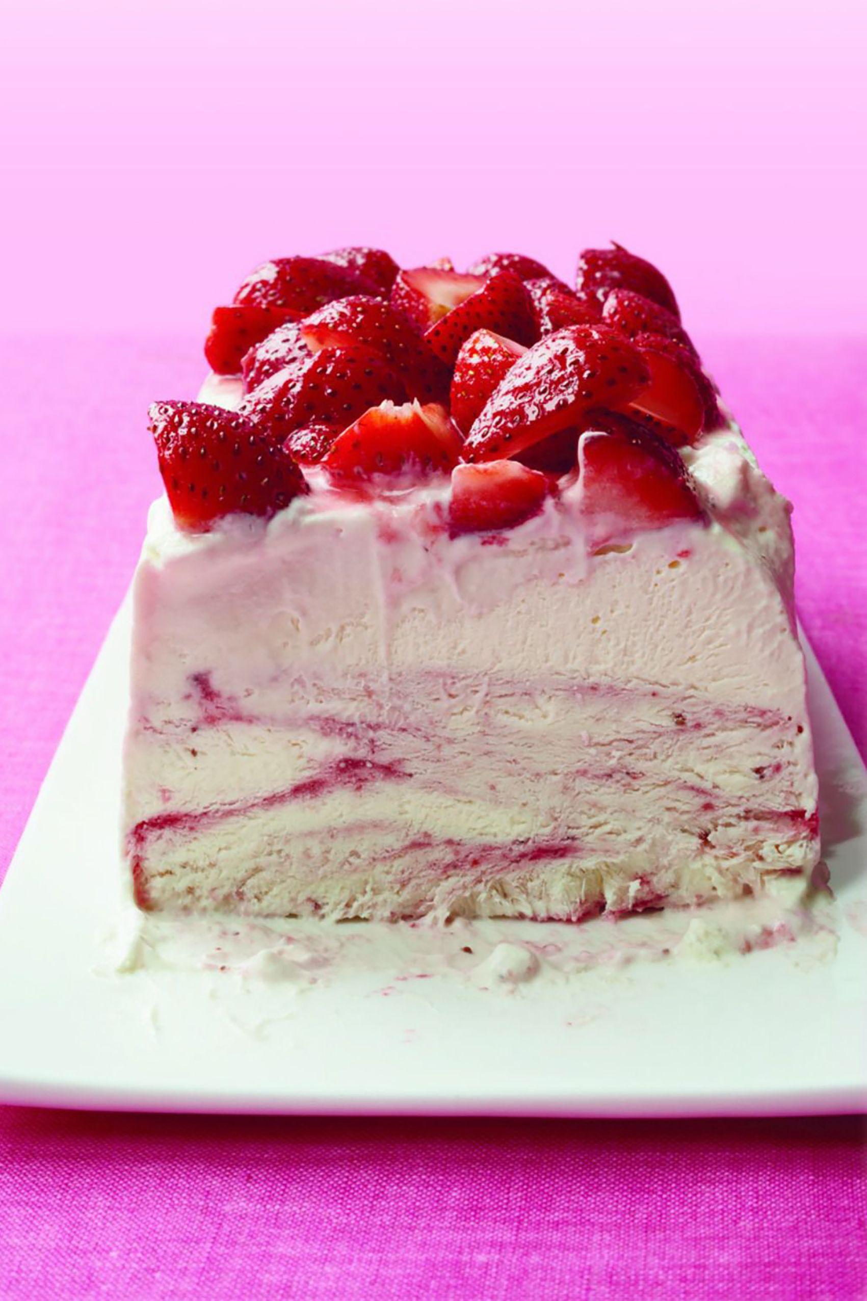 Gluten Free Desserts - Strawberry Ice Cream Cheesecake