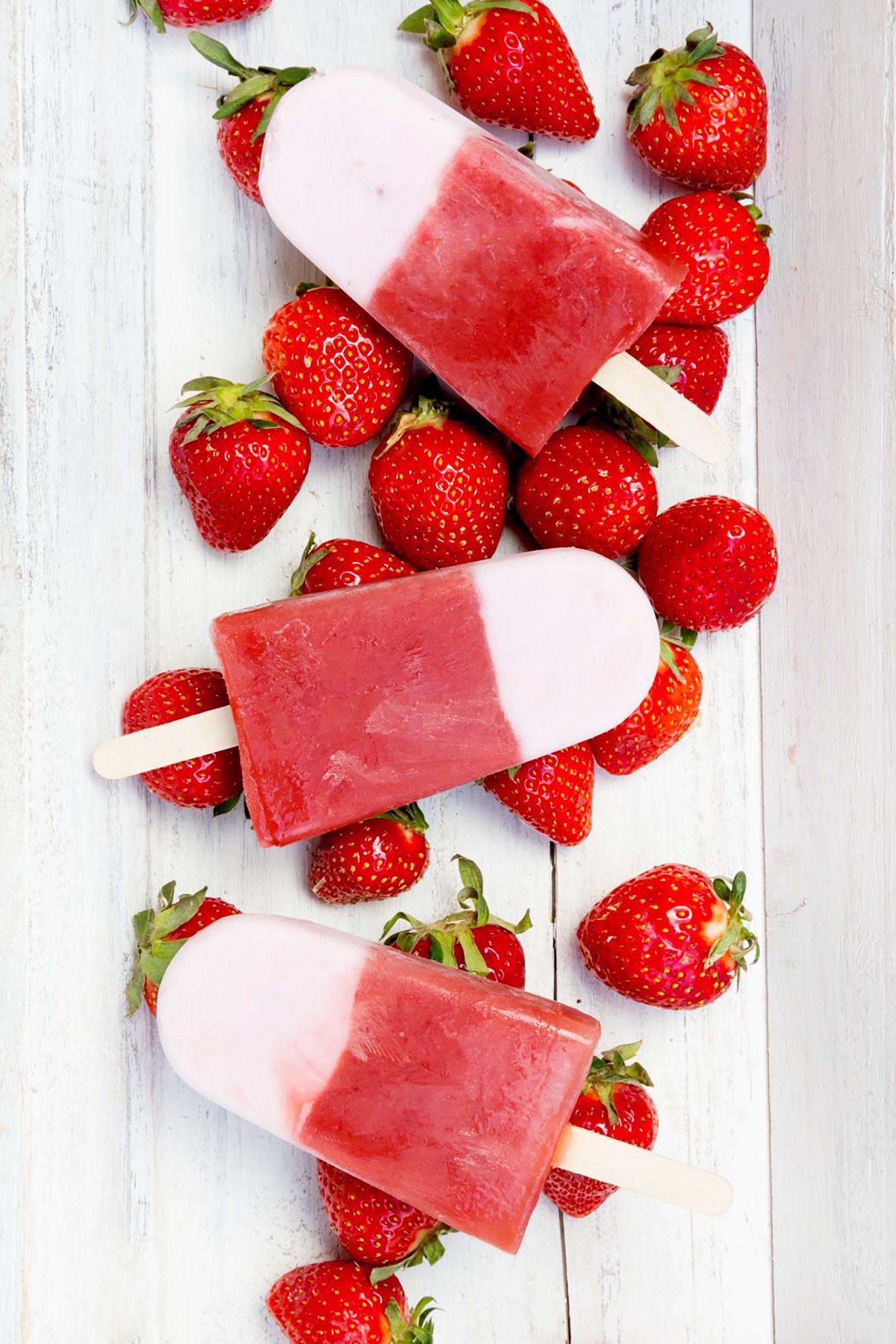 Gluten-Free Desserts - Strawberry-Yogurt Swirl Pops
