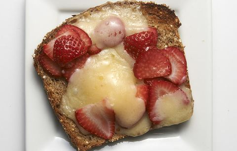 Strawberry cheese toast