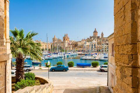 Street and Marina in Senglea Malta