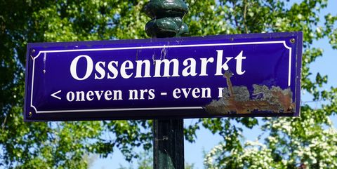 street name sign ossenmarkt   weesp
