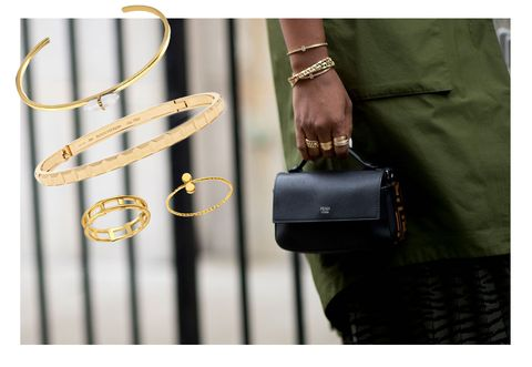 street style jewellery gold bracelets and rings