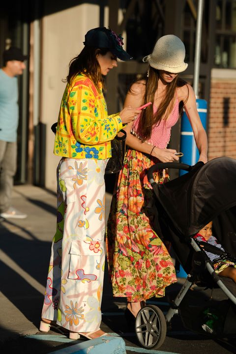 nyfw attendees in clashing prints