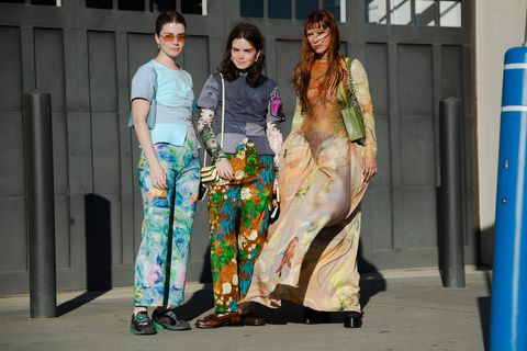 prints in every color of the rainbow at new york fashion week