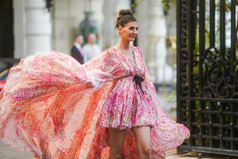 Pink, Clothing, Dress, Fashion, Beauty, Haute couture, Gown, Fashion design, Formal wear, Cocktail dress,