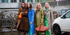 Claire Rose, Nicole Huisman, Stephanie Broek en Yara Michels bij Kopenhagen Fashion Week