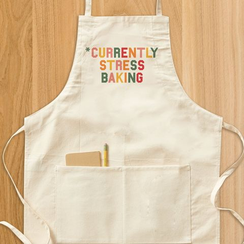 currently stress baking apron