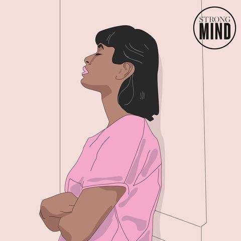 Pink, Cartoon, Illustration, Shoulder, Neck, Art, Black hair,