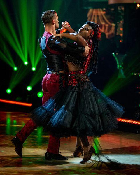 Clara Amfo suffers wardrobe malfunction during dance (Photo)