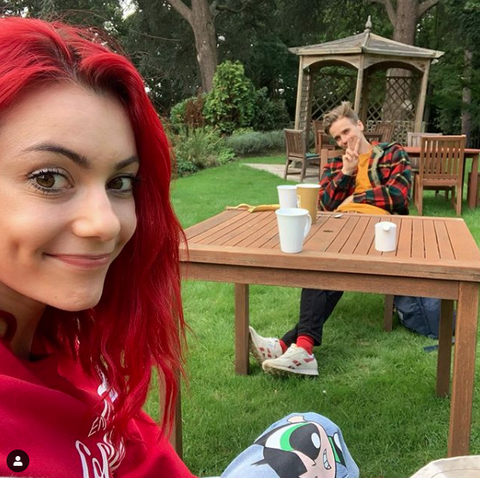 strictly come dancing pro dianne buswell's reunion with joe sugg on instagram