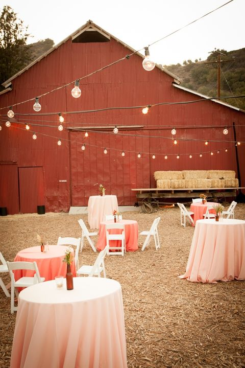 string lights outdoor wedding idea
