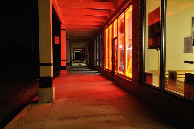 strip mall facade