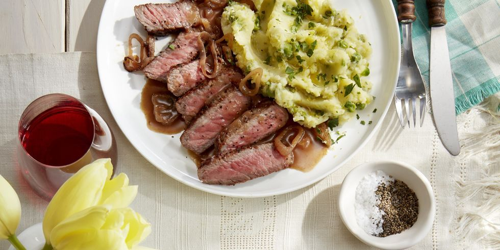 How To Make Strip Steak With Lemon Mashed Potatoes Best