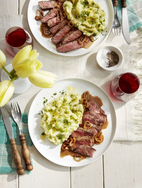 strip steak lemon mashed potatoes recipe