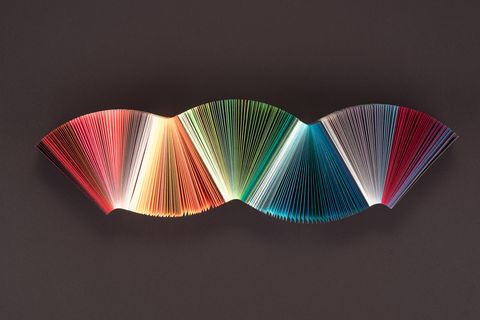 Striped Colourful Paper Wave