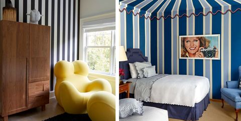 Room, Furniture, Interior design, Blue, Bedroom, Yellow, Bed, Property, Ceiling, Living room,