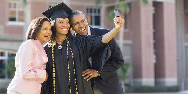 woman graduating from university