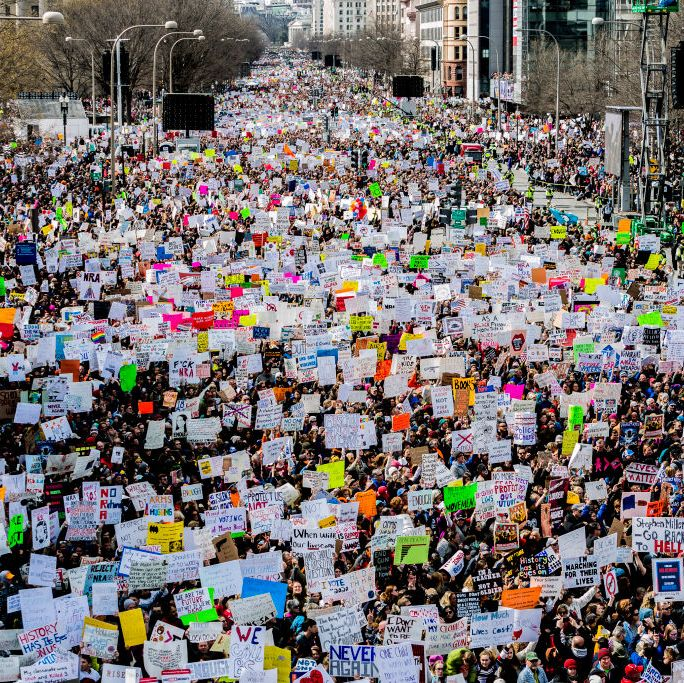 An estimated 200,000 people attended the March for Our Lives protest in Washington, D.C. on March 24, 2018. Sister marches also occurred throughout the country.