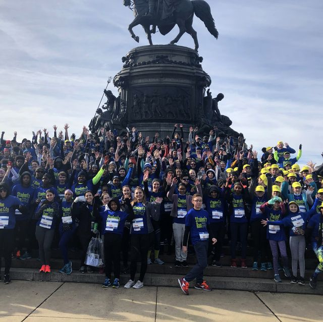 group photo of students run philly style