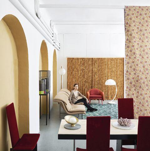 cristina celestino in her new milan studio