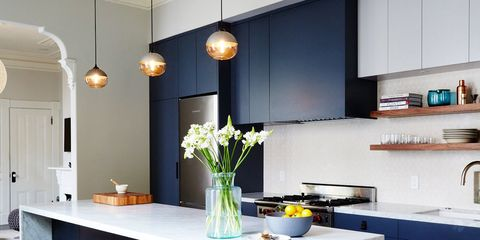 10 Kitchen Cabinet Color Combinations You'll Actually Want ... on small kitchen countertop ideas, different color china cabinet ideas, kitchen wall color ideas, different color bedroom ideas, small country kitchen design ideas, blue gray kitchen cabinets color ideas, two color kitchen cabinets ideas, different color kitchen cabinet doors, sea blue kitchen paint ideas, different colored kitchen cabinets with crown, different designs to paint metal kitchen cabinets, different kitchen islands, kitchen cabinet paint color ideas, different color desk ideas, small kitchen design with backsplash ideas,