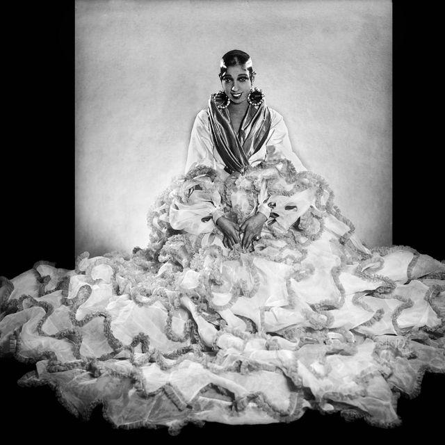 josephine baker flounced dress