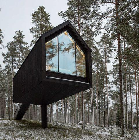 niliaitta prototype, un hotel cabaña de madera en finlandia de studio puisto