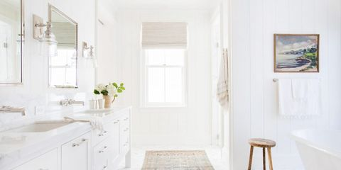 15 White Bathroom Ideas - Decorating White Bathrooms