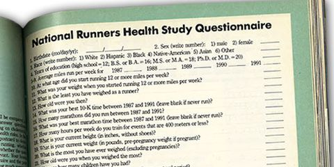 National Runners Health Study Questionnaire