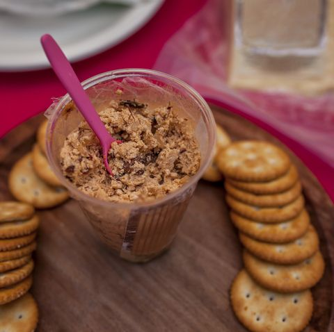 stuffed cream cheese and edible mexican chapulines grasshoppers