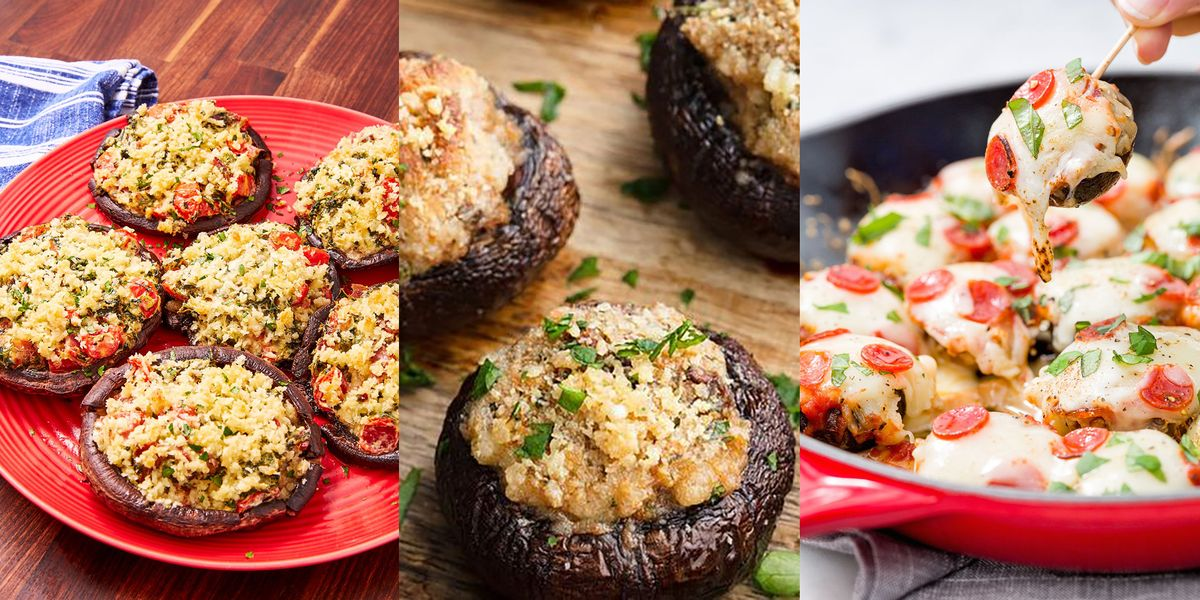 Stuffed Mushroom Recipes From Classic Cheese Stuffed Mushrooms To Caprese-Style Portobellos