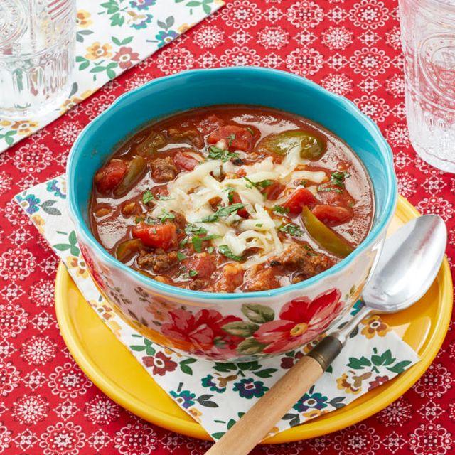 the pioneer woman's stuffed pepper soup recipe