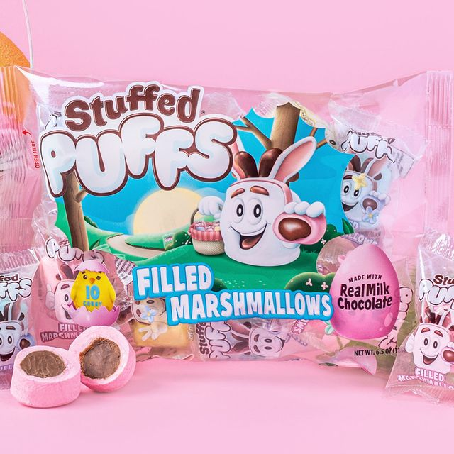 stuffed puffs easter pastel chocolate filled marshmallows