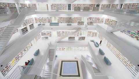 Stuttgart Germany - Contemporary public library