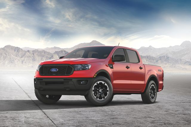 2021 ford ranger adds available new stx special edition package that combines unique 18 inch black wheels, 8 inch center touch screen, sync® 3 with apple carplay and android auto compatibility, and upgraded interior finishes for a package price of 995 msrp