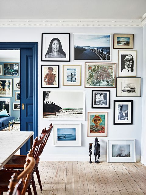 Pared con cuadros. Styleandcreate. Elle Decoration by Emma Persson Lagerberg