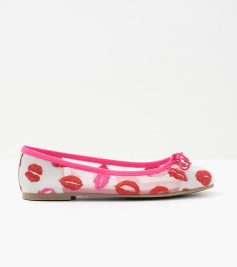 Footwear, Ballet flat, Pink, Shoe, Magenta,