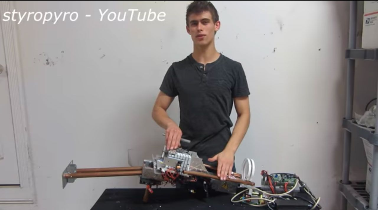 Youtuber Who Builds Extreme Diy Lasers Suspended From Site Electrical Wiring Part Iii Youtube