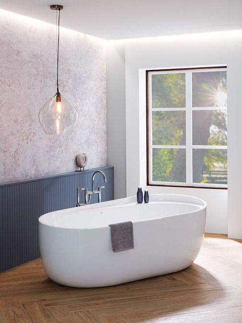 bañera redondeada