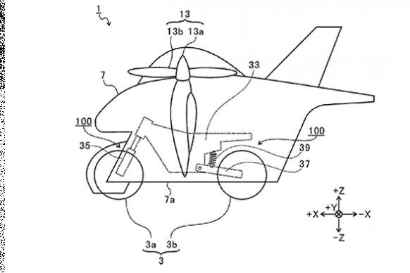 subaru flying motorcycle