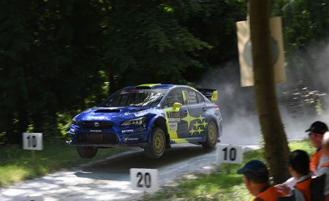 Subaru Goodwood rally stage