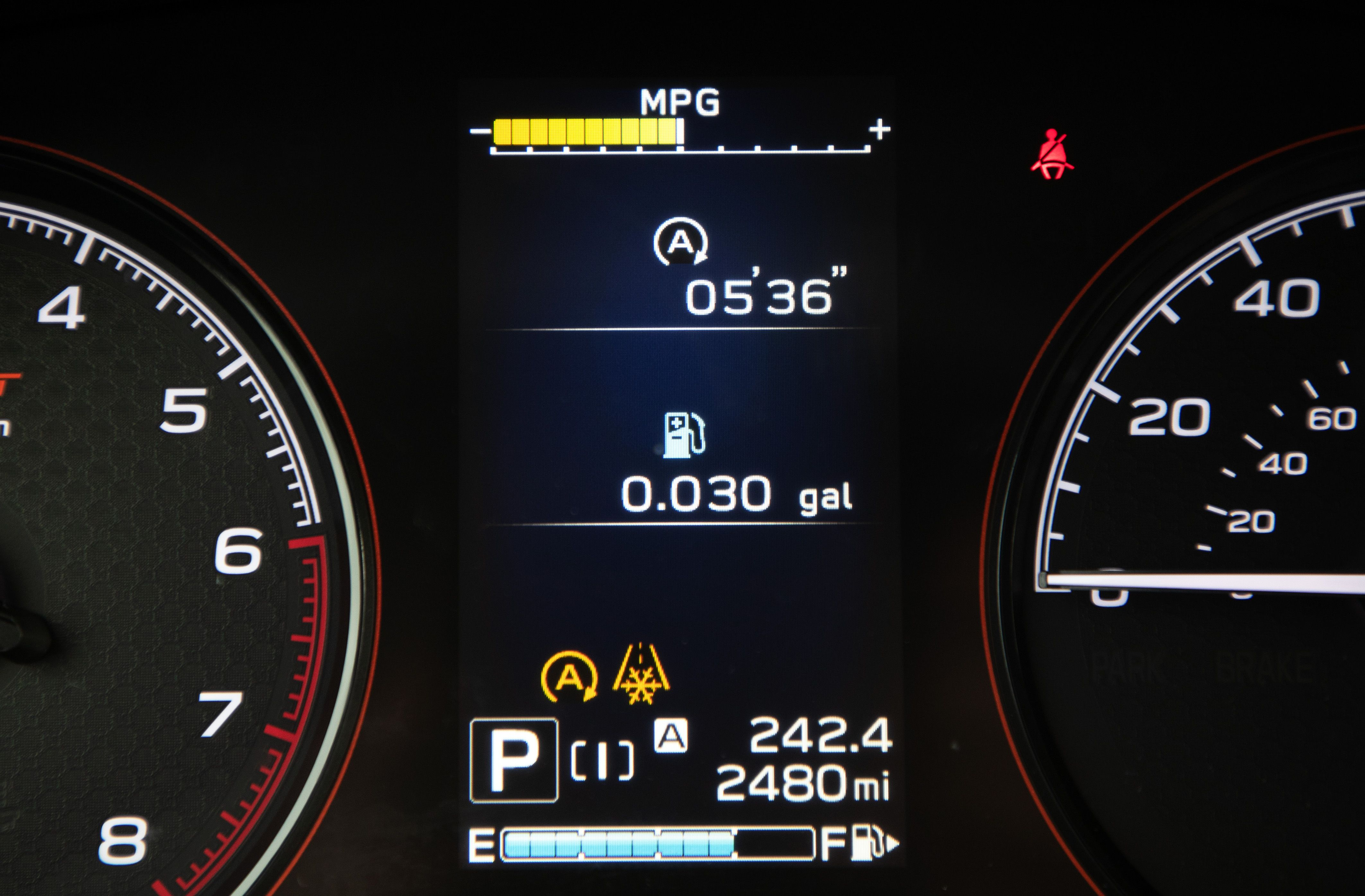 Subaru's New Feature Tracks Fuel Savings from Engine Stop/Start