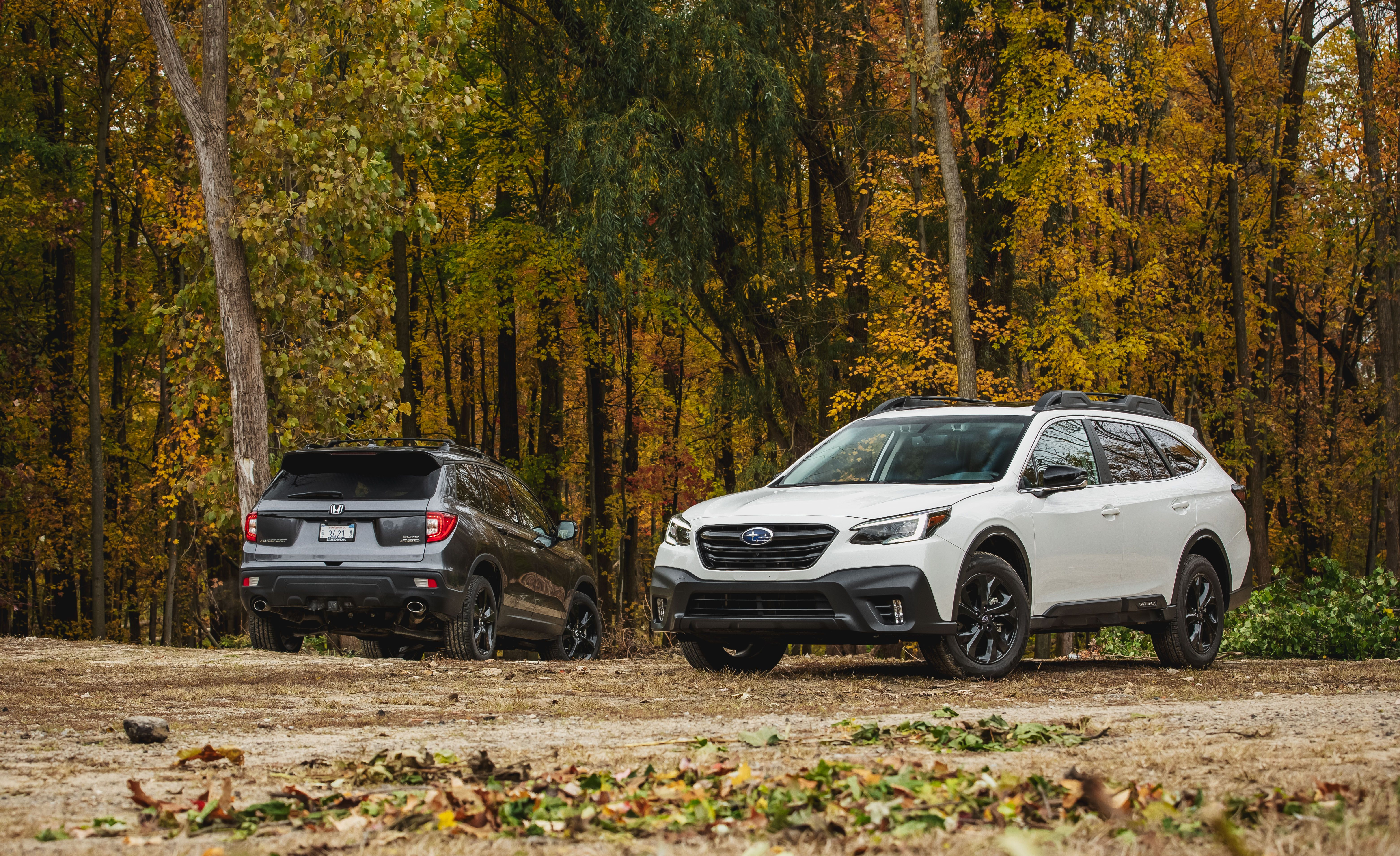 2020 Subaru Outback Vs 2019 Honda Passport Mid Size Suv Comparison