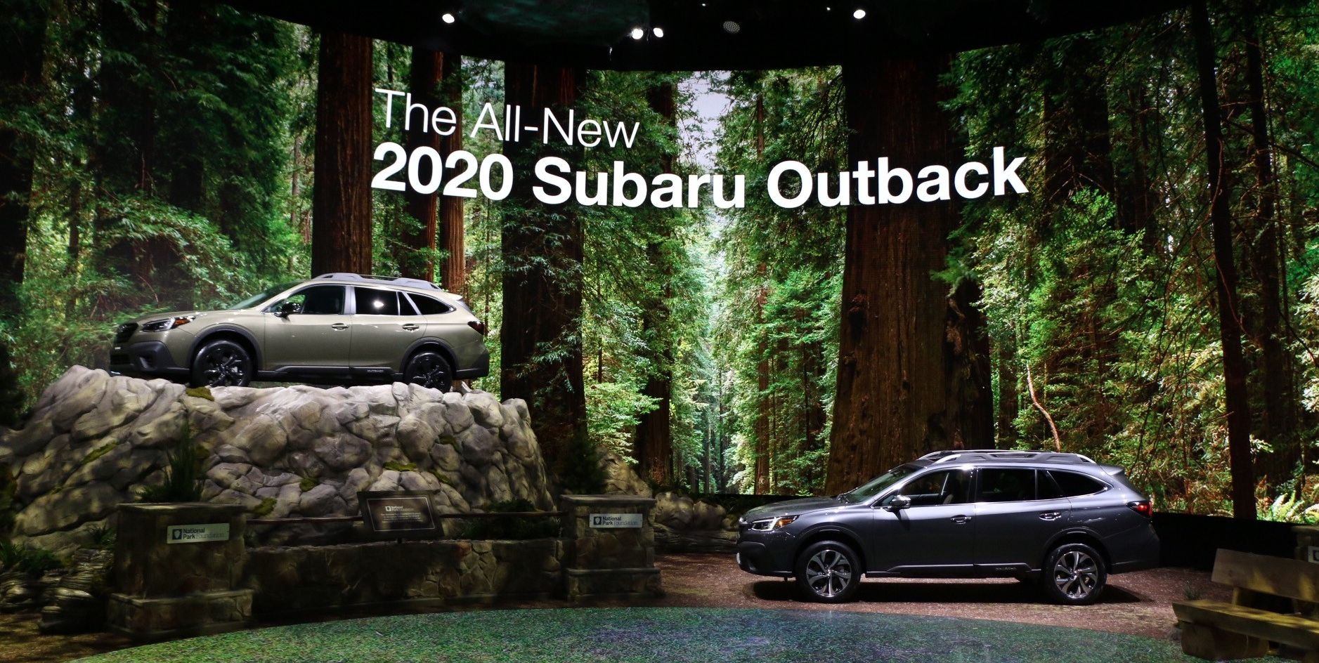 Subaru's Stand at the 2019 New York Auto Show Is the Most Subaru Thing We've Ever Seen