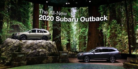 Subaru stand New York auto show