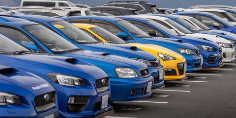 Land vehicle, Vehicle, Car, Automotive design, Performance car, Sports car, Automotive exterior, Subaru, Parking, Sports car racing,