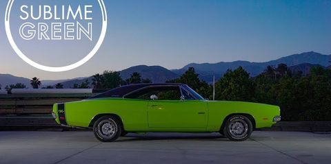1969 sublime green dodge charger