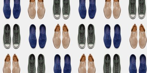 men's suede shoes and sneakers